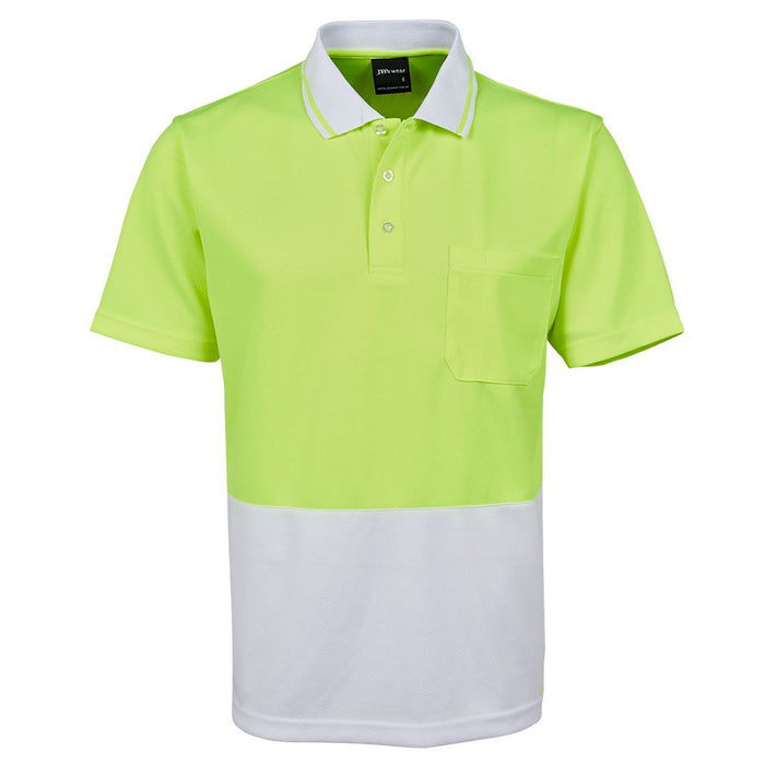 The Non Cuff Hi Vis Polo | Mens | Short Sleeve | Plus