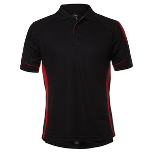 The Bell Polo | Mens | Short Sleeve | Black/Red