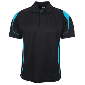 The Bell Polo | Mens | Short Sleeve | Black/Aqua