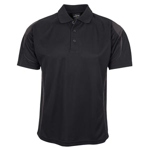The Bell Polo | Mens | Short Sleeve | Black/Charcoal