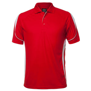 The Bell Polo | Mens | Short Sleeve | Red/White