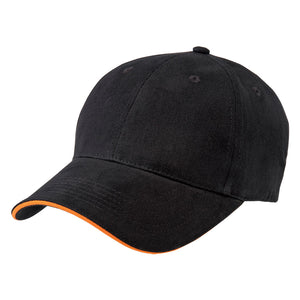 The Premium Sandwich Cap | Adults | Black/Orange