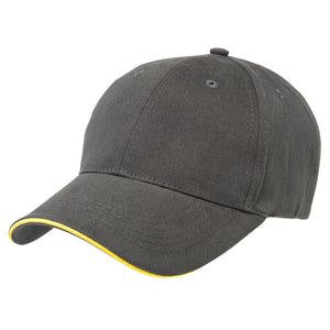 The Premium Sandwich Cap | Adults | Charcoal/Yellow