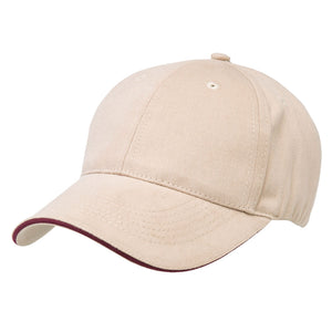 The Premium Sandwich Cap | Adults | Natural/Maroon