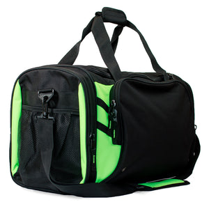 The Tasman Sports Bag | Black/Neon Green