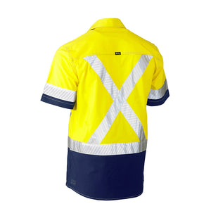 Flex and Move Utility Hi Vis Shirt | Short Sleeve | Yellow/Navy