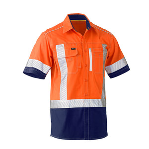 Flex and Move Utility Hi Vis Shirt | Short Sleeve | Orange/Navy