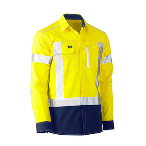 Flex and Move Hi Vis Utility Shirt | Yellow/Navy
