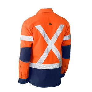 Flex and Move Hi Vis Utility Shirt | Orange/Navy