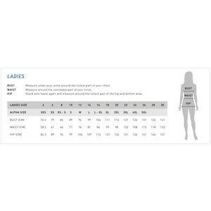 Ladies Camden Shirt | Sizing Guide