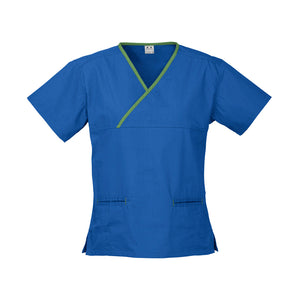 The Contrast Scrub Top | Ladies | Royal/Lime