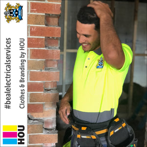House of Uniforms presents the 6HVNC Traditional HiVis Polo as worn by Beal Electrical Services