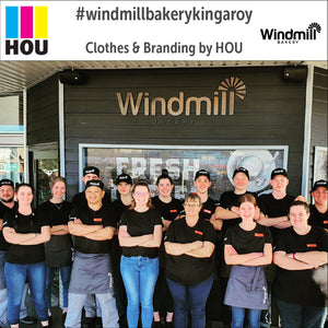 House of Uniforms presents BA54 half waist aprons as worn by the Windmill Bakery
