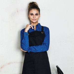 The Brooklyn Apron | Bib | Black