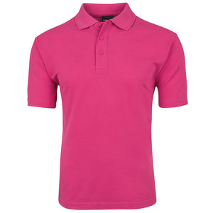 The Pique Polo | Mens | Short Sleeve | Hot Pink