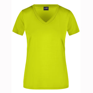 V Neck Active Tee | Acid Yellow