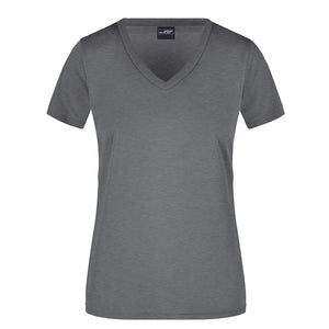 V Neck Active Tee | Dark Grey Marle