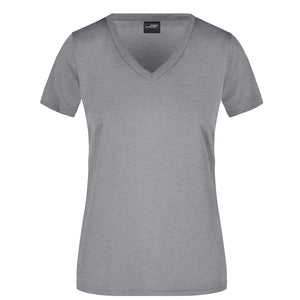 V Neck Active Tee | Grey Marle