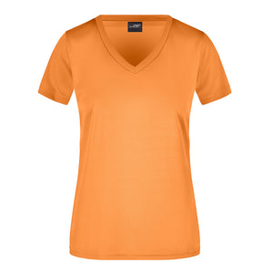 V Neck Active Tee | Orange