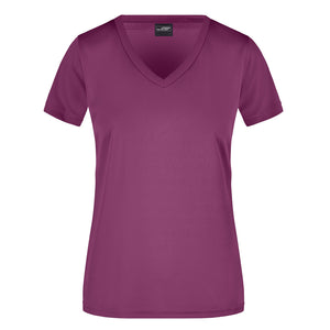 V Neck Active Tee | Purple