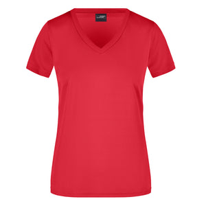 V Neck Active Tee | Red