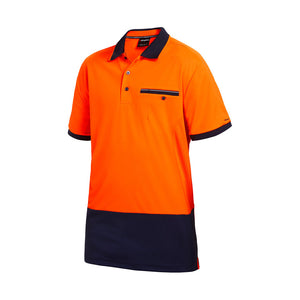 Work Cool Spliced Polo | Orange/Navy