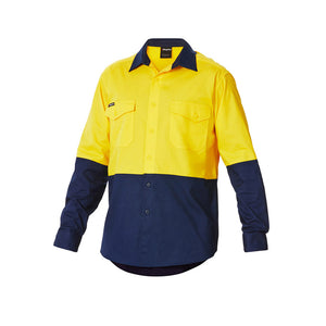 Work Cool 2 Spliced Shirt | Yellow/Navy