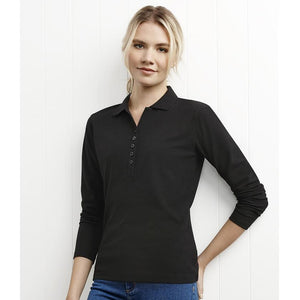 Ladies Long Sleeve Crew Polo | House of Uniforms Australia