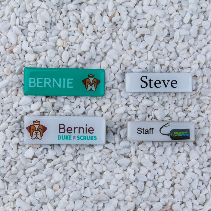 The Name Badge | Rectangle | Pin or Magnet Fitting