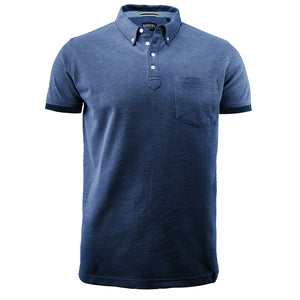 The Larkford Polo | Mens | Short Sleeve | Dark Blue Marle