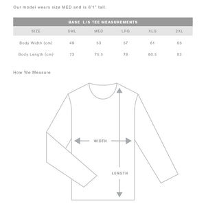 The Base Tee | Mens | Sizing Guide