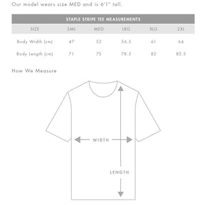 The Stripe Tee | Mens | Sizing Guide