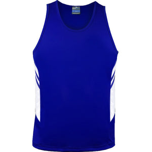 The Tasman Singlet | Mens | Royal/White