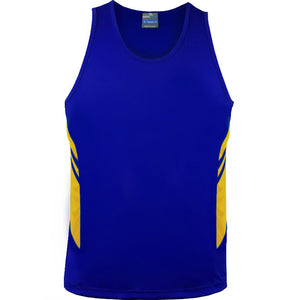 The Tasman Singlet | Mens | Royal/Gold