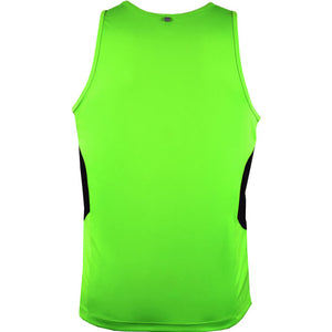 The Tasman Singlet | Mens | Neon Green/Black