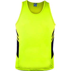 The Tasman Singlet | Mens | Neon Yellow/Black
