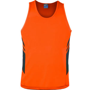 The Tasman Singlet | Mens | Neon Orange/Black