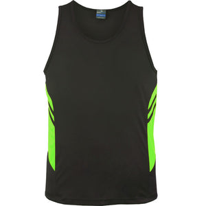 The Tasman Singlet | Mens | Slate/Neon Green