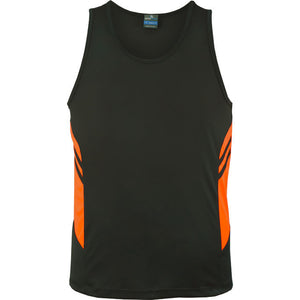 The Tasman Singlet | Mens | Slate/Neon Orange