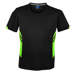 The Tasman Tee | Mens | Black/Neon Green