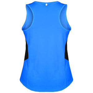 The Tasman Singlet | Ladies | Cyan/Black