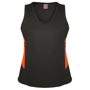 The Tasman Singlet | Ladies | Slate/Neon Orange