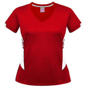 The Tasman Tee | Ladies | Red/White