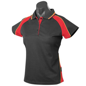 The Panorama Polo | Ladies | Short Sleeve | Black/Red/Gold