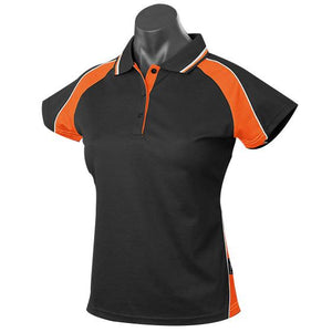 The Panorama Polo | Ladies | Short Sleeve | Black/Orange/White