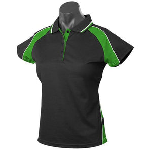 The Panorama Polo | Ladies | Short Sleeve | Black/Green/White