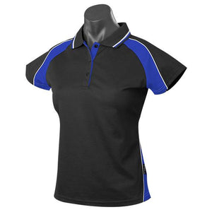 The Panorama Polo | Ladies | Short Sleeve | Black/Royal/White
