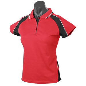 The Panorama Polo | Ladies | Short Sleeve | Red/Black/Gold
