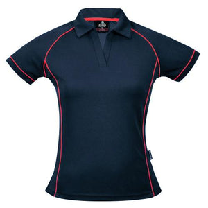 The Endeavour Polo | Ladies | Navy/Red