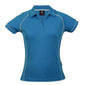 The Endeavour Polo | Ladies | Pacific Blue/White